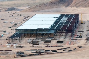 The Tesla Gigafactory under construction will need some serious battery raw materials