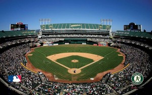 Oakland Coliseum, home of the A's and the Bay Bridge Series