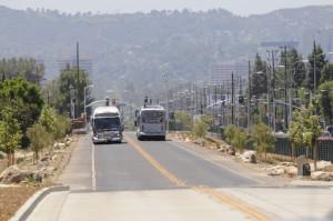 The Orange Line Bus Rapid Transit in the San Fernando Valley
