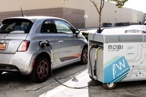 Mobi used to charge an EV